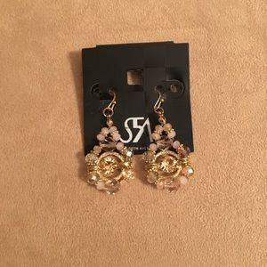 NWT AUTHENTIC SAKS FIFTH AVENUE STATEMENT EARRINGS
